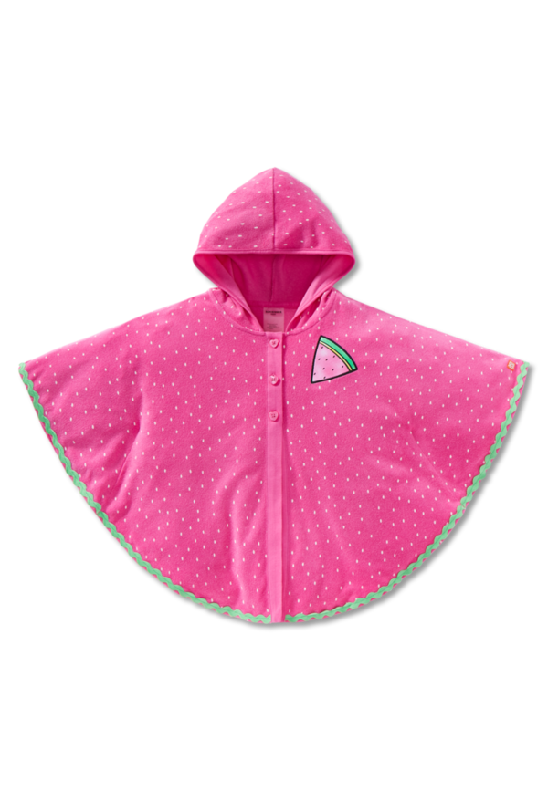 Bade-Poncho LSF40+ Frottee Wassermelone pink - Watermelon World