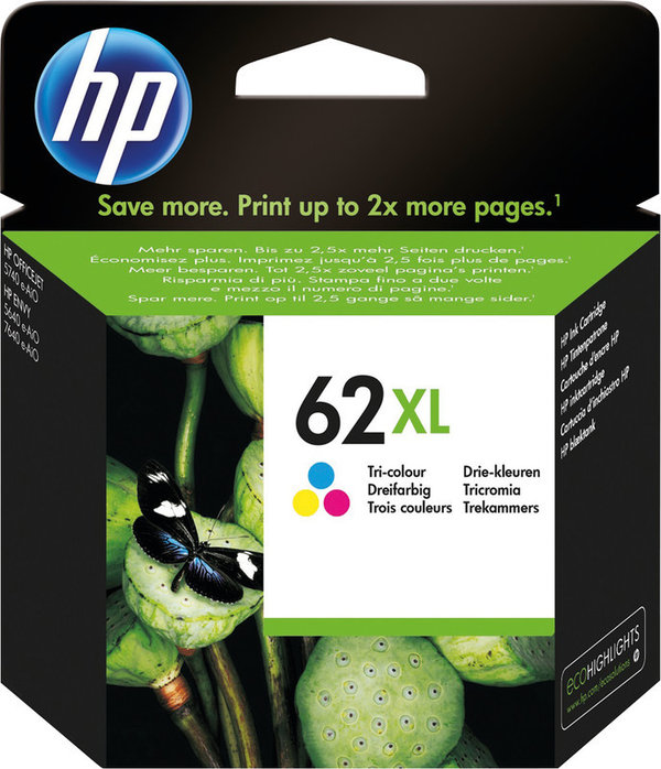 HP Tintenpatronen 62XL color