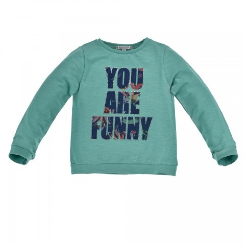 T-SHIRT LANGARM ´YOU ARE FUNNY´ GREEN